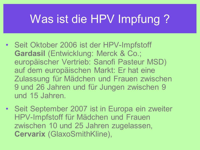 Was ist die HPV Impfung
