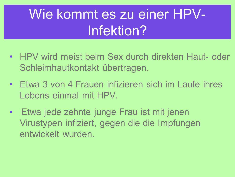 Wie kommt es zu einer HPV-Infektion