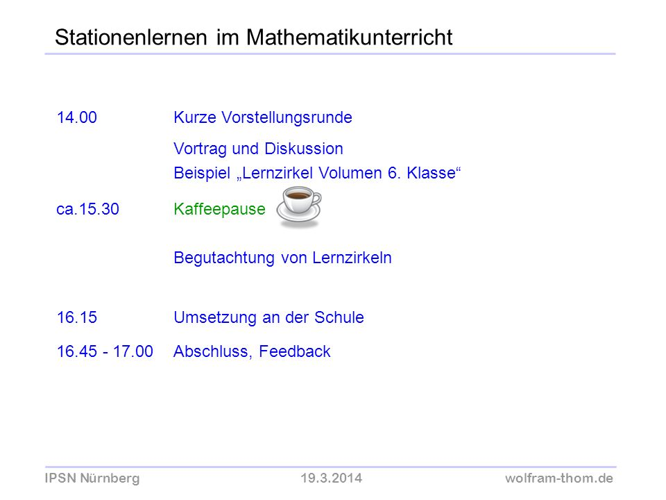 Stationenlernen im Mathematikunterricht