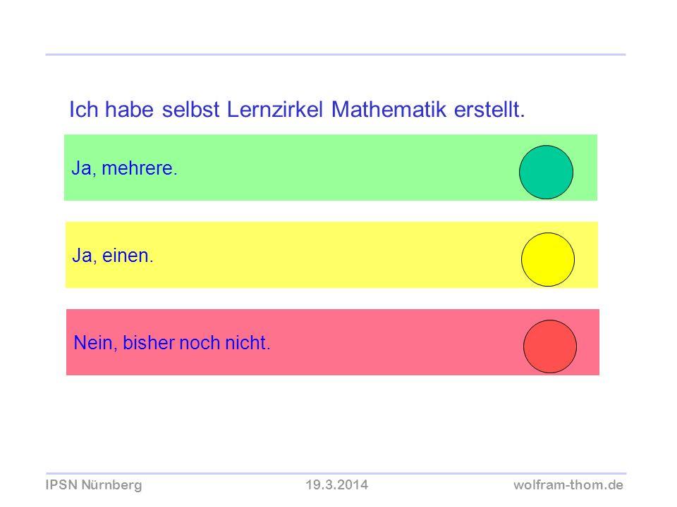 Ich habe selbst Lernzirkel Mathematik erstellt.