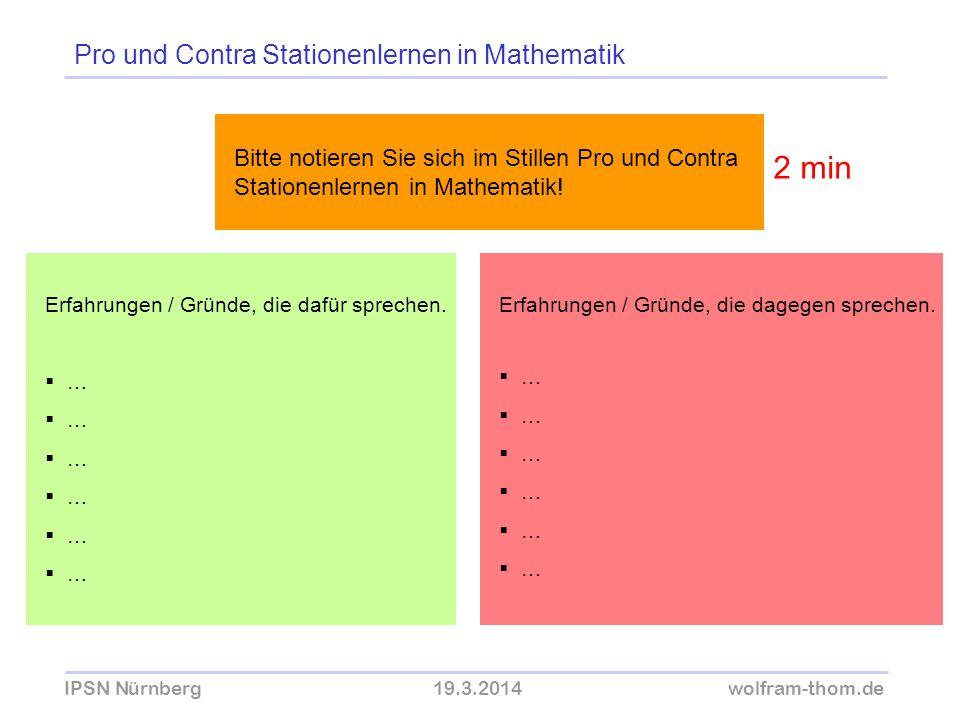 Pro und Contra Stationenlernen in Mathematik