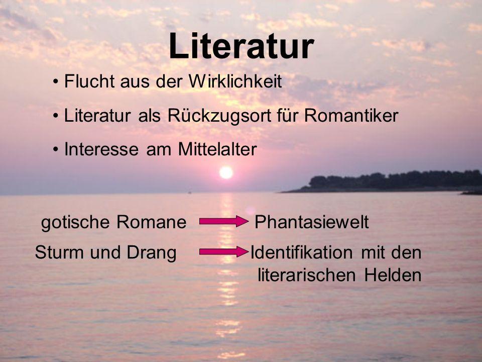 Literatur Flucht aus der Wirklichkeit