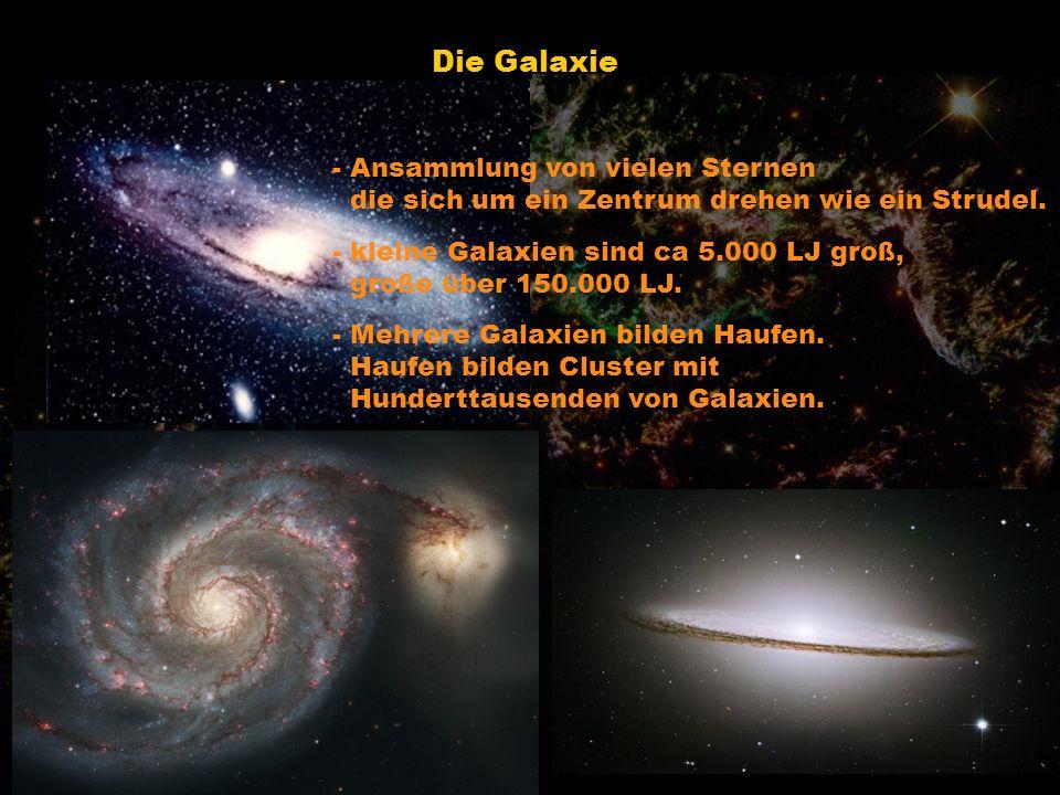Die Galaxie - Ansammlung von vielen Sternen