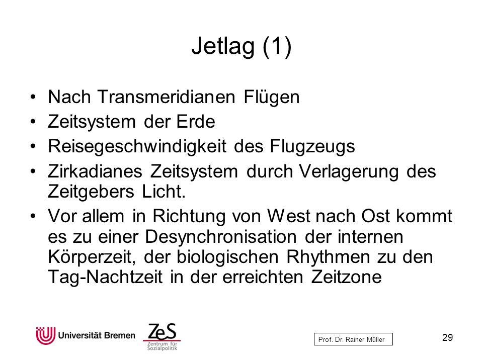 Jetlag (1) Nach Transmeridianen Flügen Zeitsystem der Erde