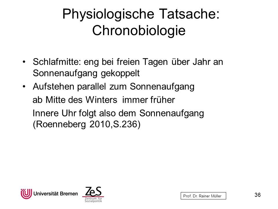 Physiologische Tatsache: Chronobiologie