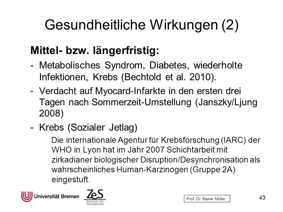 Gesundheitliche Wirkungen (2)