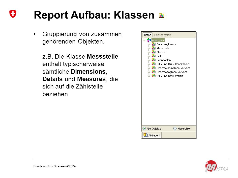 Report Aufbau: Klassen