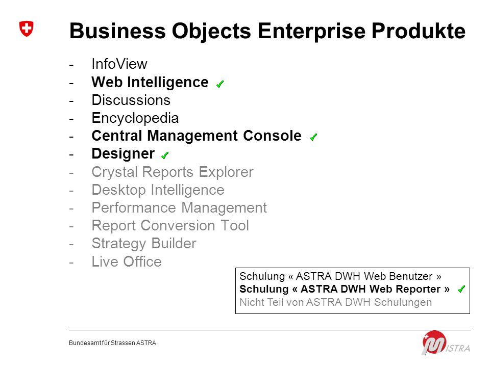 Business Objects Enterprise Produkte