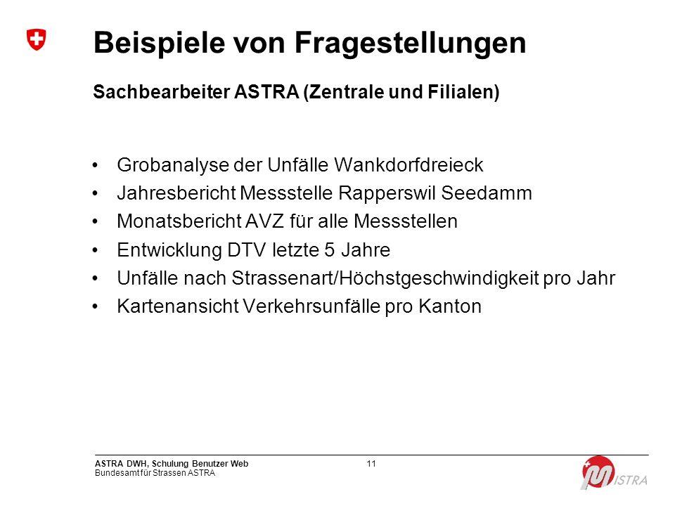 Sachbearbeiter ASTRA (Zentrale und Filialen)