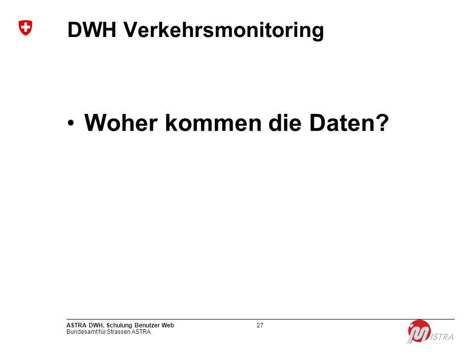 DWH Verkehrsmonitoring
