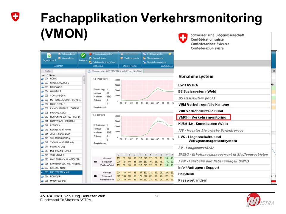 Fachapplikation Verkehrsmonitoring (VMON)