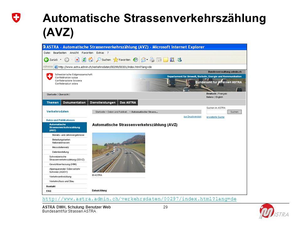 Automatische Strassenverkehrszählung (AVZ)