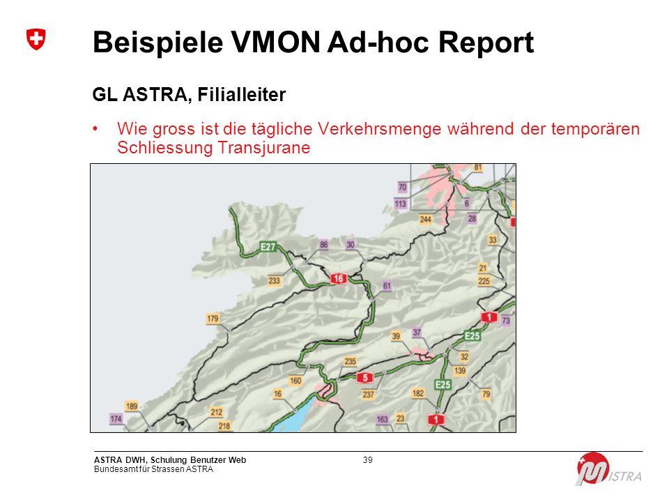 Beispiele VMON Ad-hoc Report