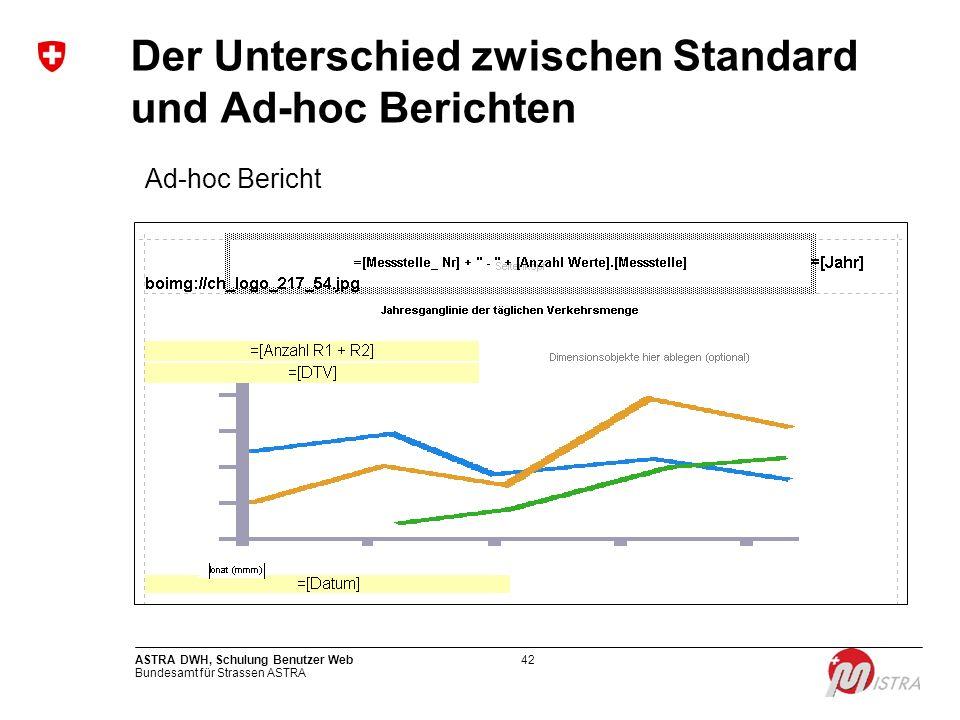 Der Unterschied zwischen Standard und Ad-hoc Berichten