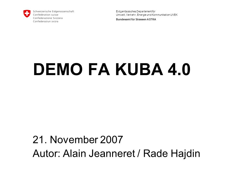 21. November 2007 Autor: Alain Jeanneret / Rade Hajdin