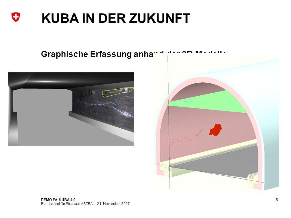 Graphische Erfassung anhand der 3D Modelle