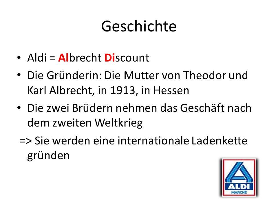 Geschichte Aldi = Albrecht Discount