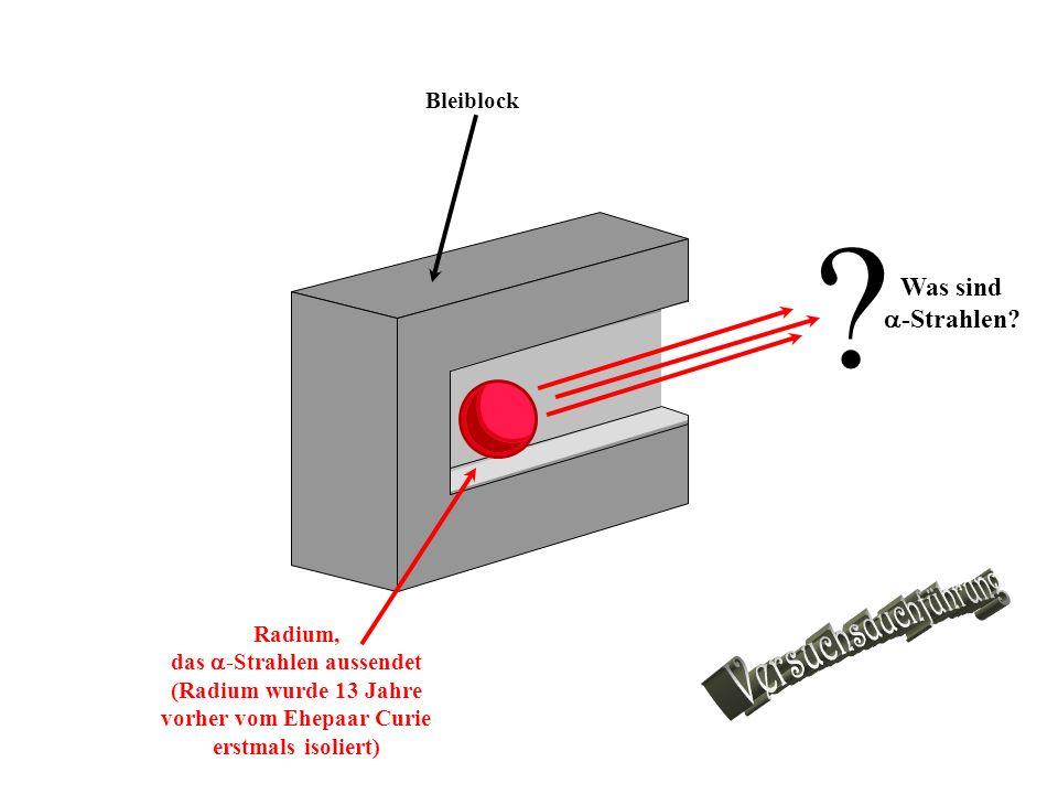Versuchsduchführung Was sind -Strahlen Bleiblock Radium,