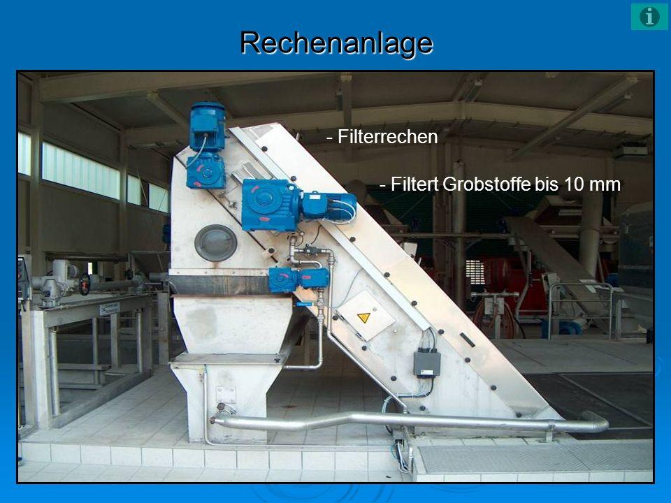 Rechenanlage - Filterrechen - Filtert Grobstoffe bis 10 mm