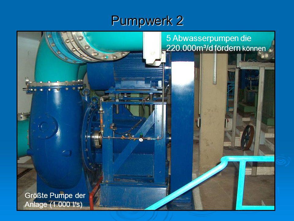 Pumpwerk 2 5 Abwasserpumpen die 220.000m³/d fördern können