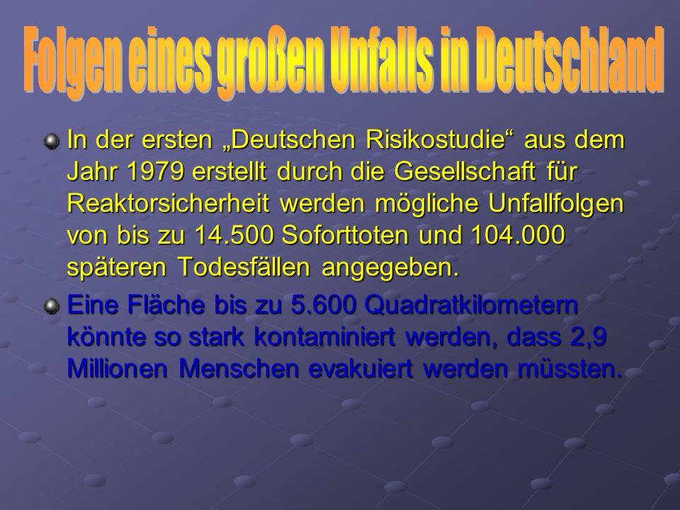 Folgen eines großen Unfalls in Deutschland