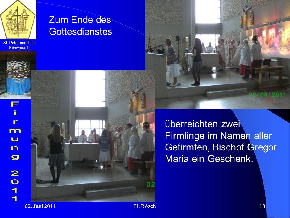 Zum Ende des Gottesdienstes