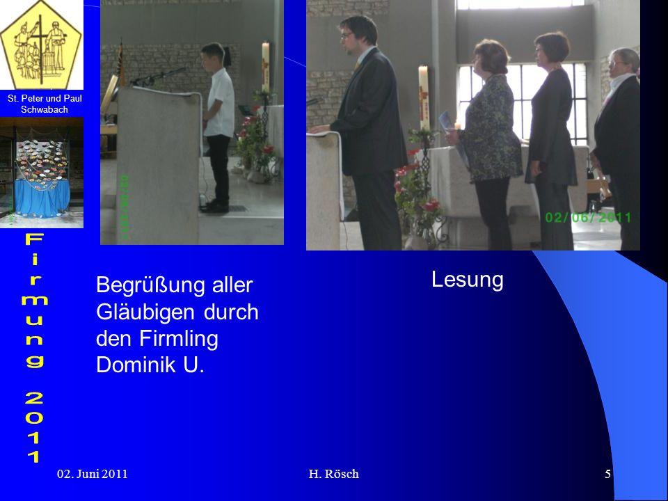 Begrüßung aller Gläubigen durch den Firmling Dominik U.