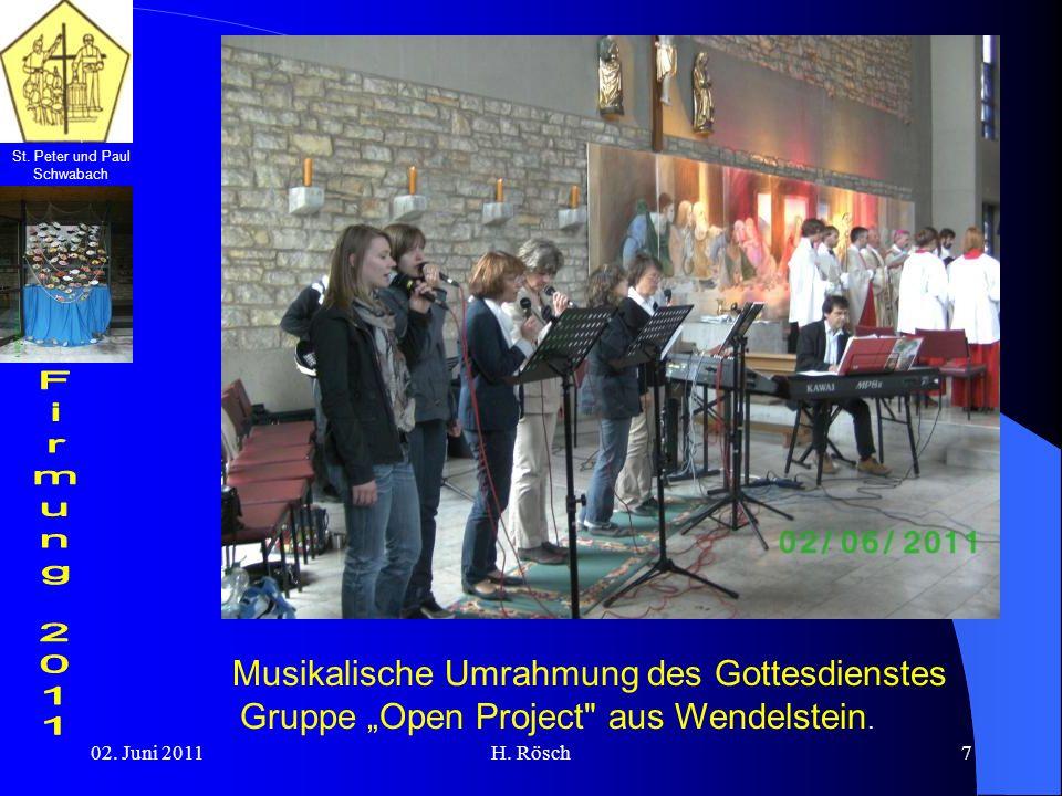 """Musikalische Umrahmung des Gottesdienstes Gruppe """"Open Project aus Wendelstein."""