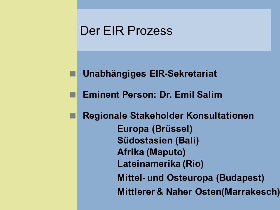 Der EIR Prozess Unabhängiges EIR-Sekretariat