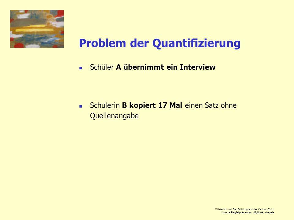 Problem der Quantifizierung