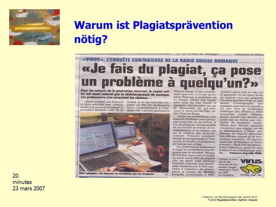 Warum ist Plagiatsprävention nötig