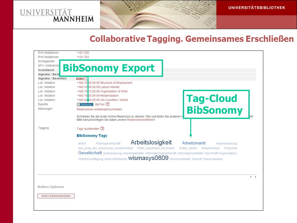BibSonomy Export Tag-Cloud BibSonomy