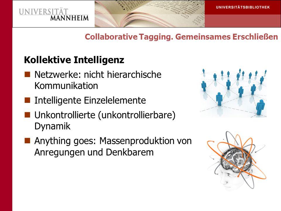 Kollektive Intelligenz Netzwerke: nicht hierarchische Kommunikation