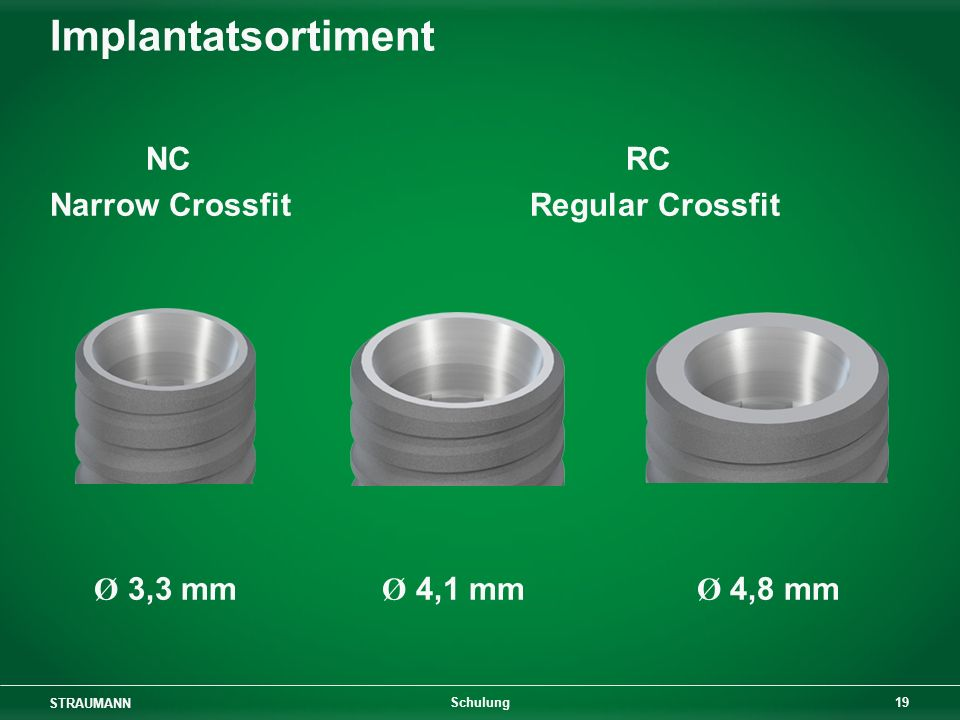 Implantatsortiment NC RC Narrow Crossfit Regular Crossfit