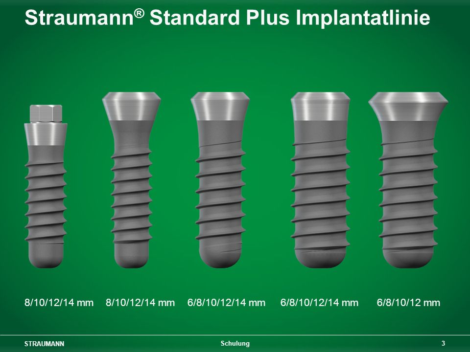 Straumann® Standard Plus Implantatlinie