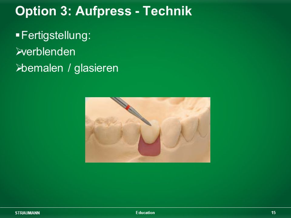 Option 3: Aufpress - Technik