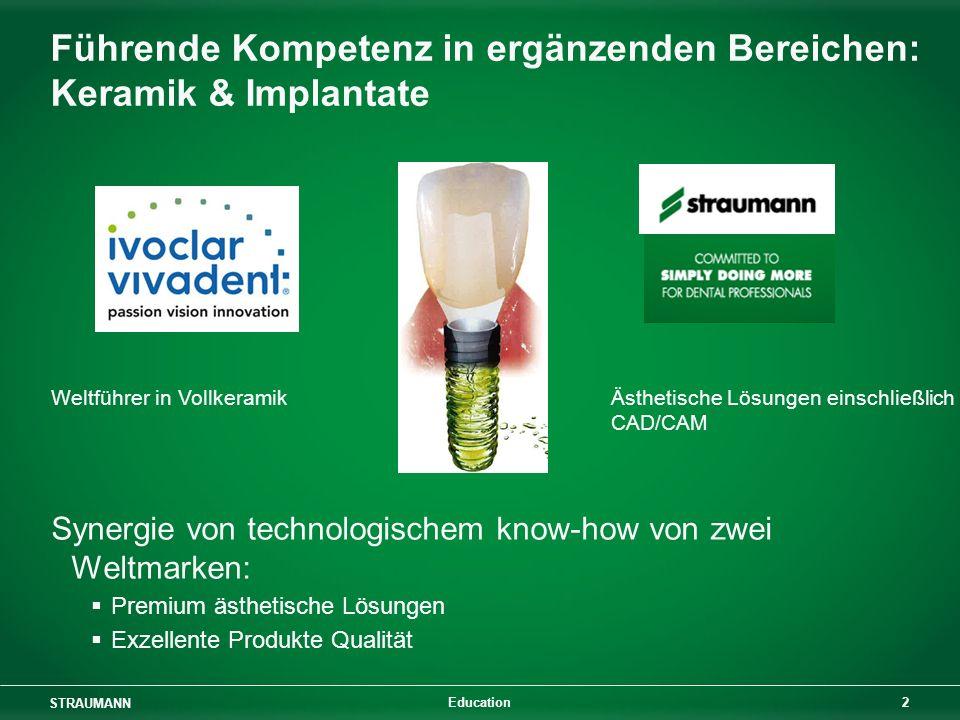 Führende Kompetenz in ergänzenden Bereichen: Keramik & Implantate