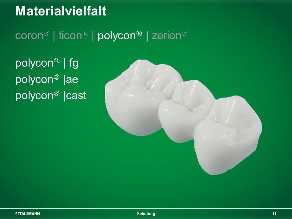 Materialvielfalt coron® | ticon® | polycon® | zerion® polycon® | fg