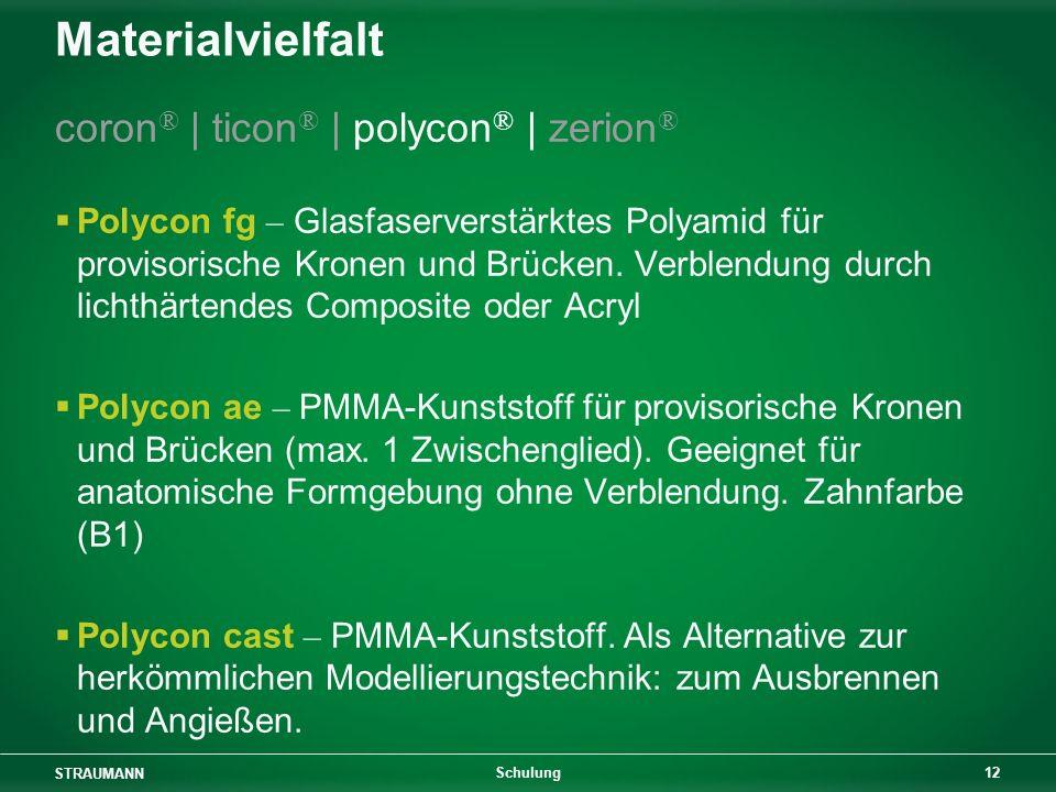 Materialvielfalt coron® | ticon® | polycon® | zerion®