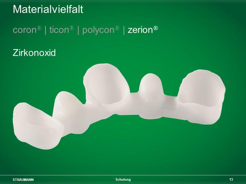 Materialvielfalt coron® | ticon® | polycon® | zerion® Zirkonoxid