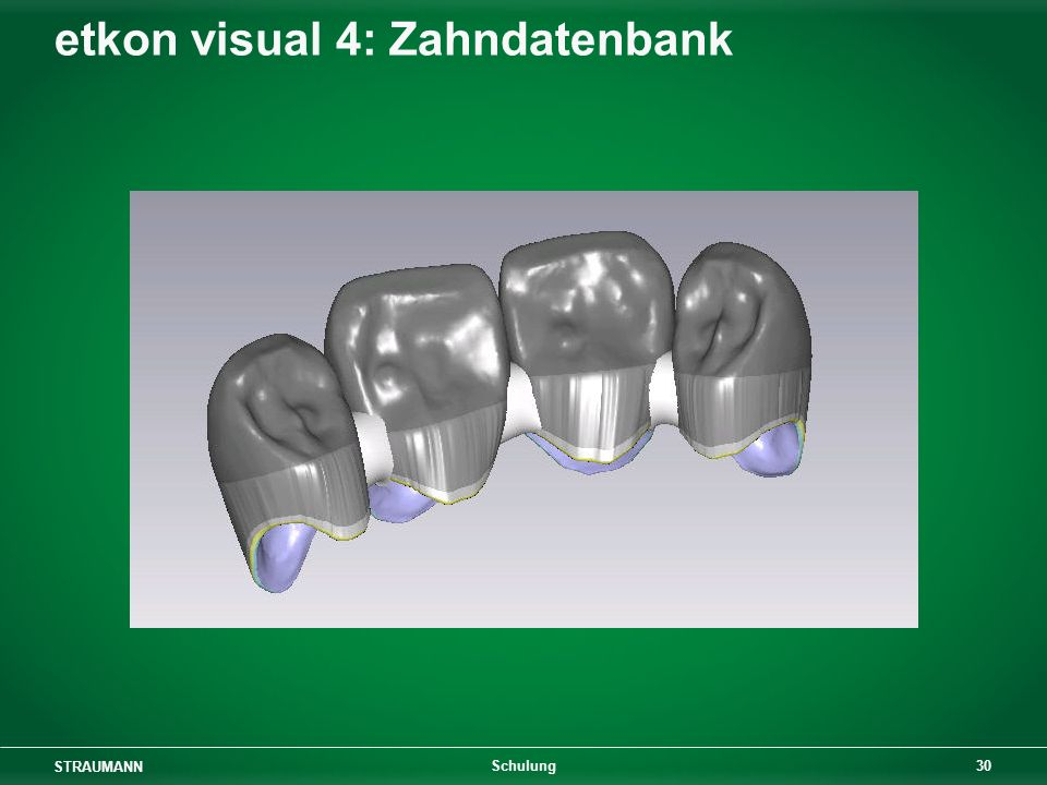 etkon visual 4: Zahndatenbank