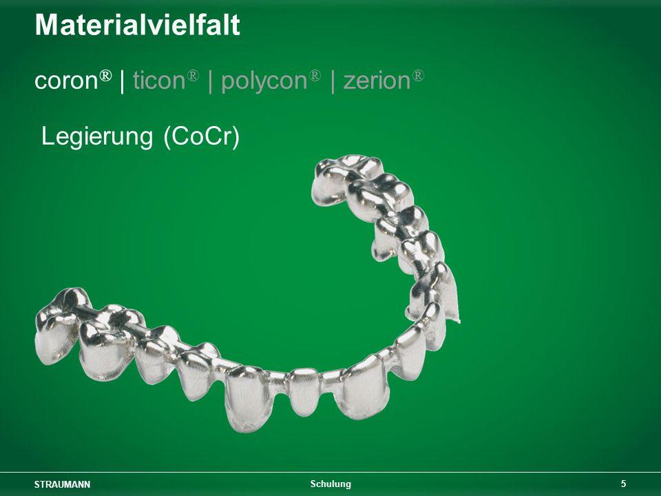 Materialvielfalt coron® | ticon® | polycon® | zerion® Legierung (CoCr)
