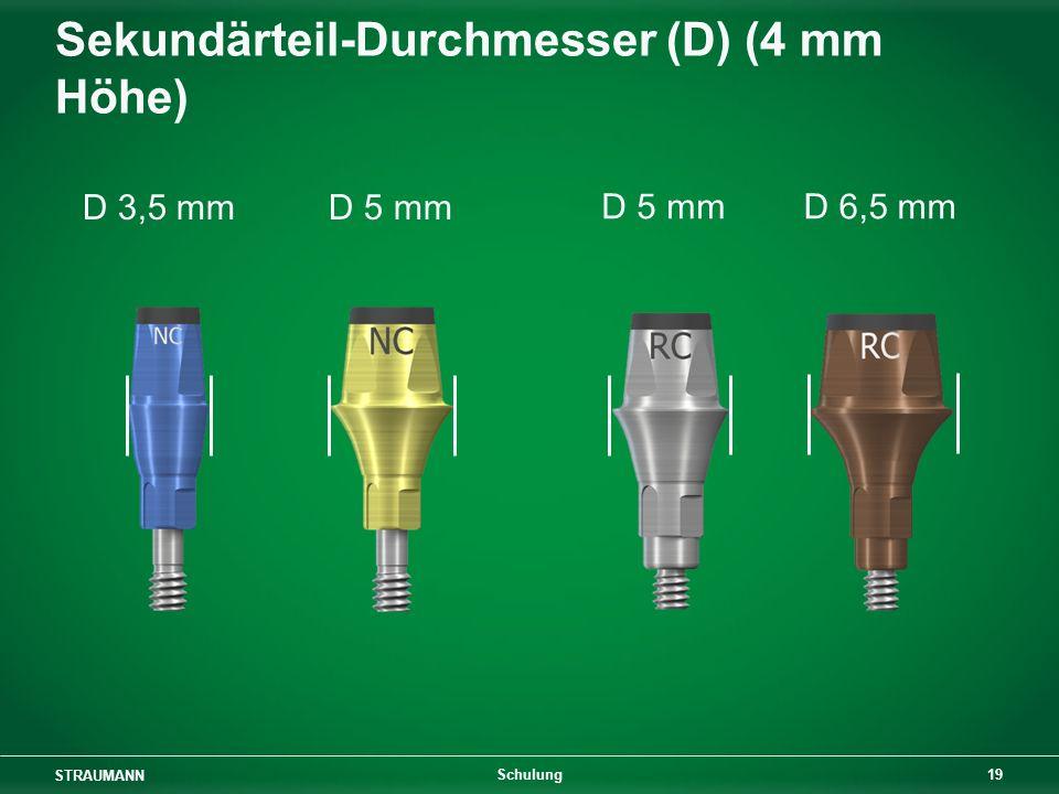 Sekundärteil-Durchmesser (D) (4 mm Höhe)