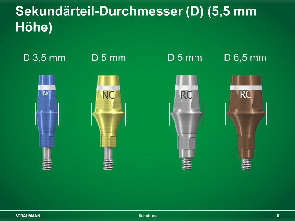 Sekundärteil-Durchmesser (D) (5,5 mm Höhe)