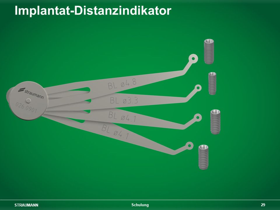 Implantat-Distanzindikator