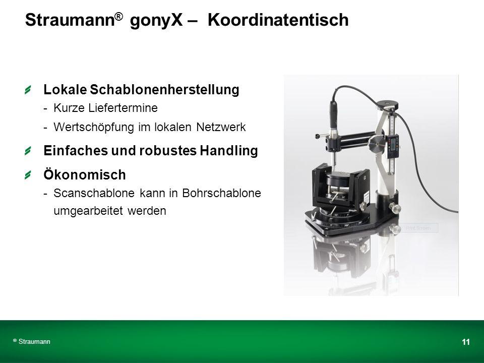 Straumann® gonyX – Koordinatentisch