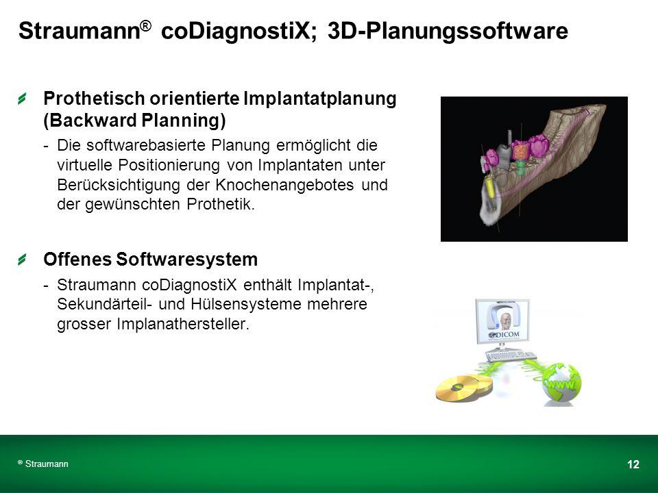 Straumann® coDiagnostiX; 3D-Planungssoftware