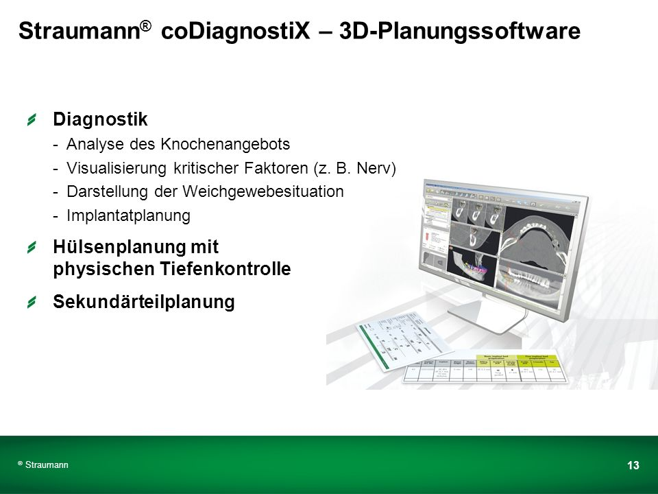 Straumann® coDiagnostiX – 3D-Planungssoftware