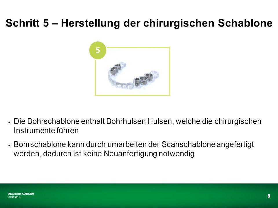 Schritt 5 – Herstellung der chirurgischen Schablone