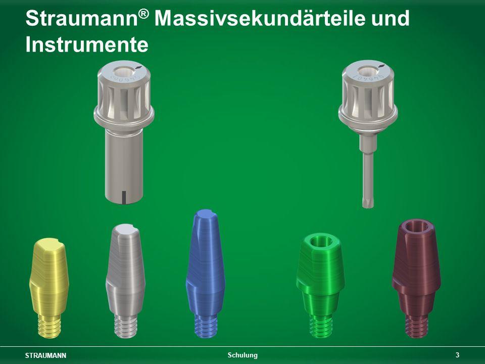 Straumann® Massivsekundärteile und Instrumente